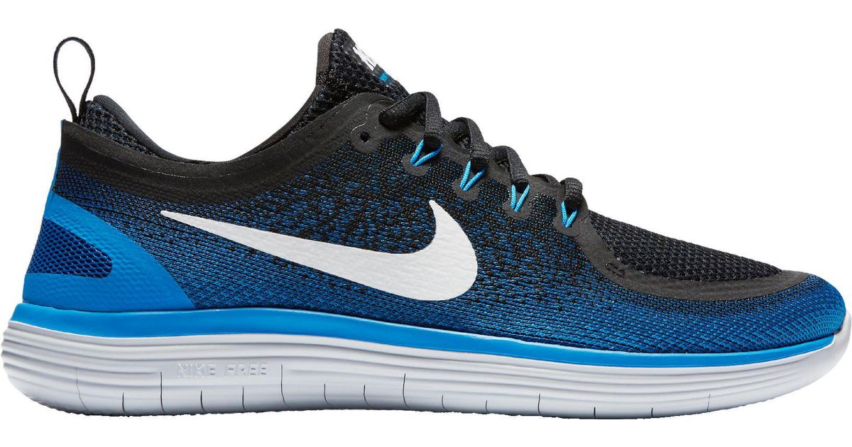 39902db53de1b Lyst - Nike Free Rn Distance 2 Running Shoes in Blue for Men