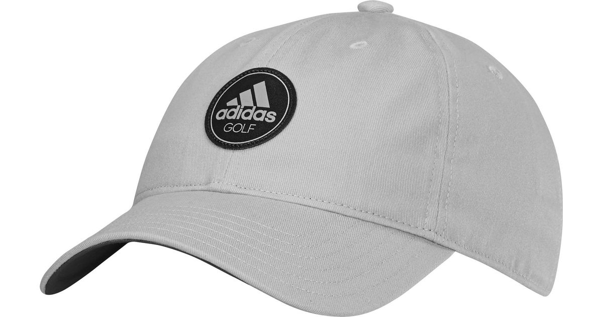 2fa9829eced Lyst - adidas Cotton Relax Golf Hat in Gray for Men