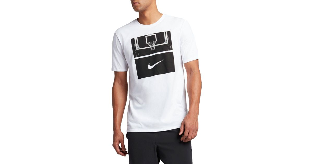 2255dd87 Nike Dry Basketball Hoop Graphic T-shirt in White for Men - Lyst