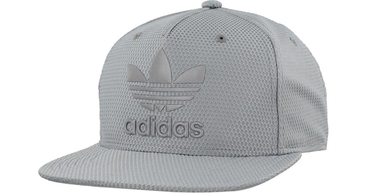 cf1ec9879da36 ... good lyst adidas originals originals trefoil reflective snapback hat in  gray for men c4eae 5f88b
