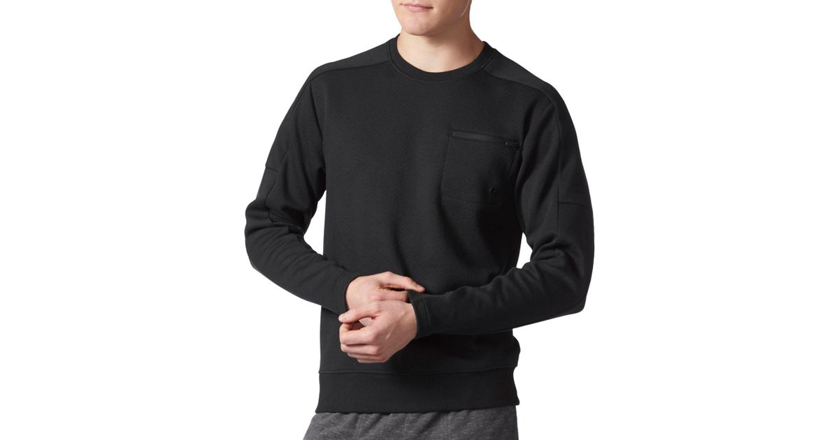 Squad Black Sweatshirt Adidas Crewneck For Men Lyst dBQoCxeWrE