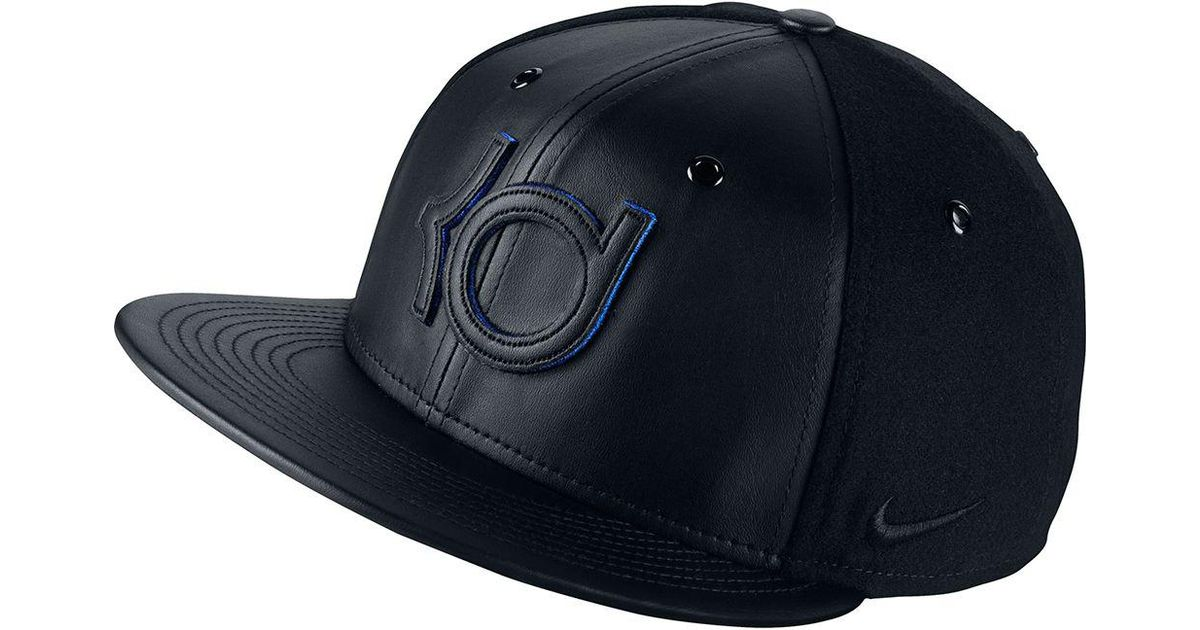 Lyst - Nike Kd Wool And Leather True Adjustable Hat in Black