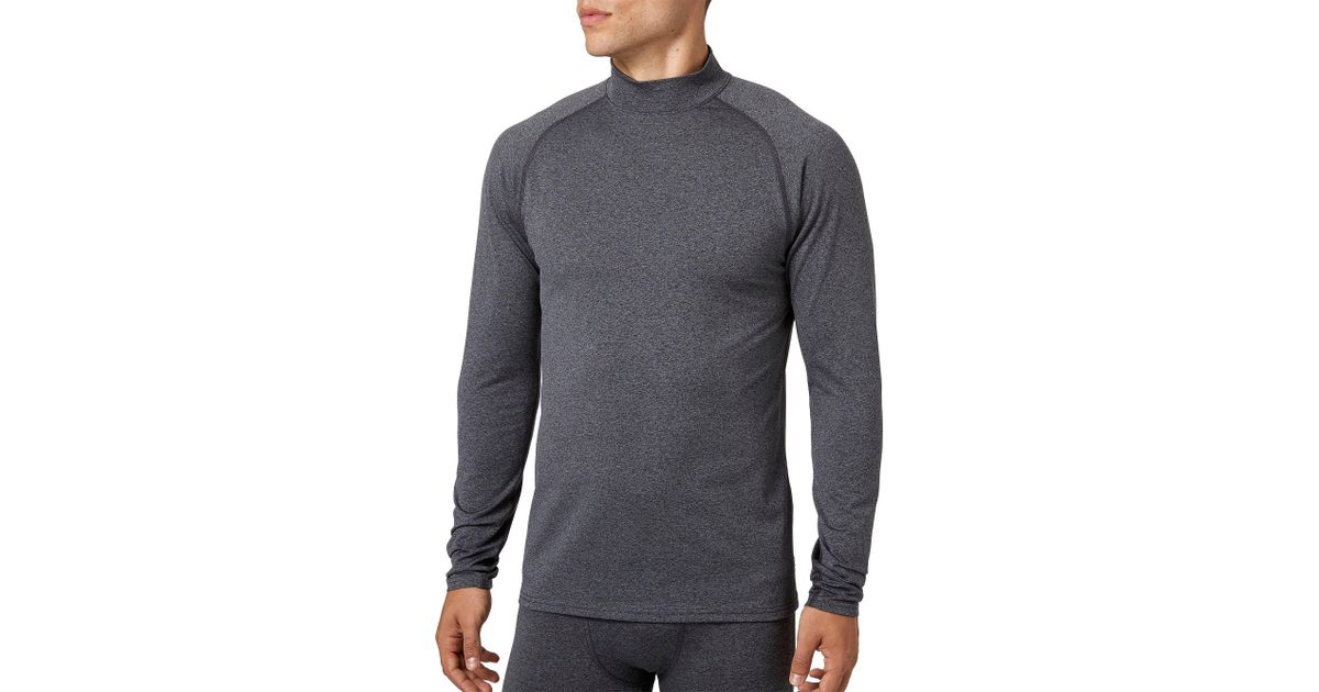 c25186cdbd7 Lyst - Reebok Cold Weather Compression Heather Mockneck Long Sleeve Shirt  in Gray for Men