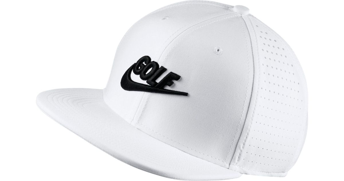 Lyst - Nike Perforated Snapback Golf Hat in White for Men a2b261404d3