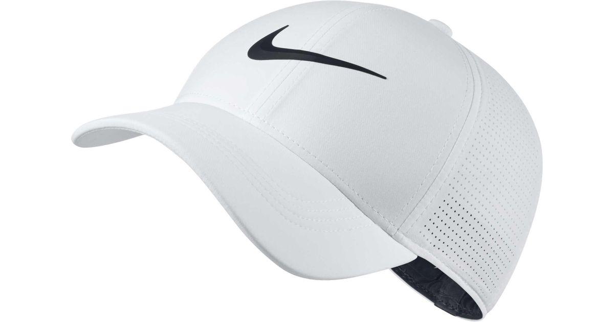 c2286516 Nike 2018 Aerobill Legacy91 Perforated Golf Hat in White for Men - Lyst