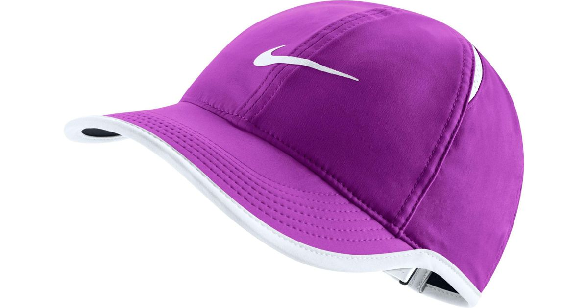Lyst - Nike Feather Light Adjustable Hat in Purple 79e5465db1a