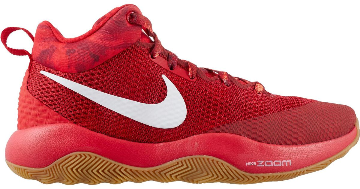 low priced 371ee 25ac5 Lyst - Nike Zoom Rev 2017 Basketball Shoes in Red for Men
