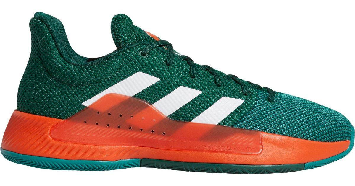 de34cf208b47 Lyst - adidas Pro Bounce Madness Low 2019 Miami Hurricanes Basketball Shoes  in Green for Men