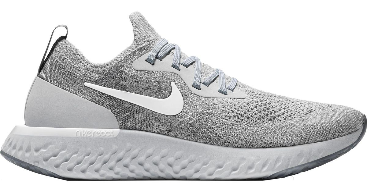 0bbac1d38eda Lyst - Nike Epic React Flyknit Running Shoes in Gray