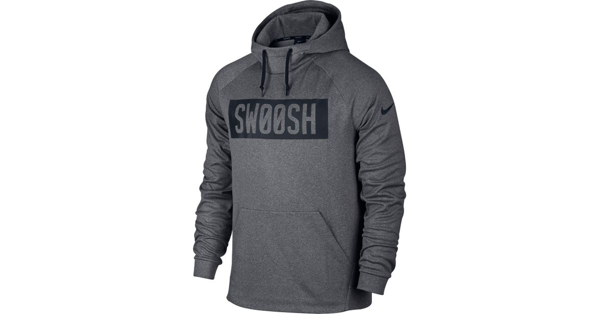 c3aa18e4a7 Lyst - Nike Therma Bar Swoosh Hoodie in Gray for Men