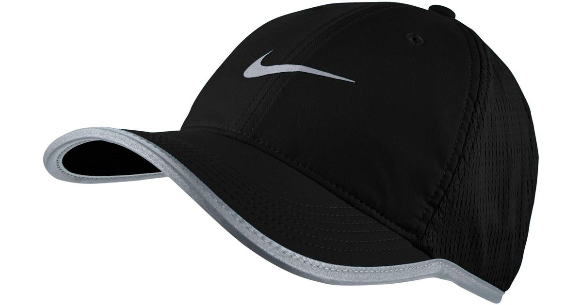 8f7fa74158d Lyst - Nike Featherlight Adjustable Running Hat in Black for Men