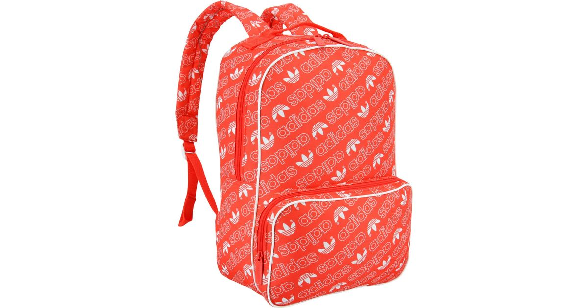 Lyst adidas Originals Santiago mochila en rojo