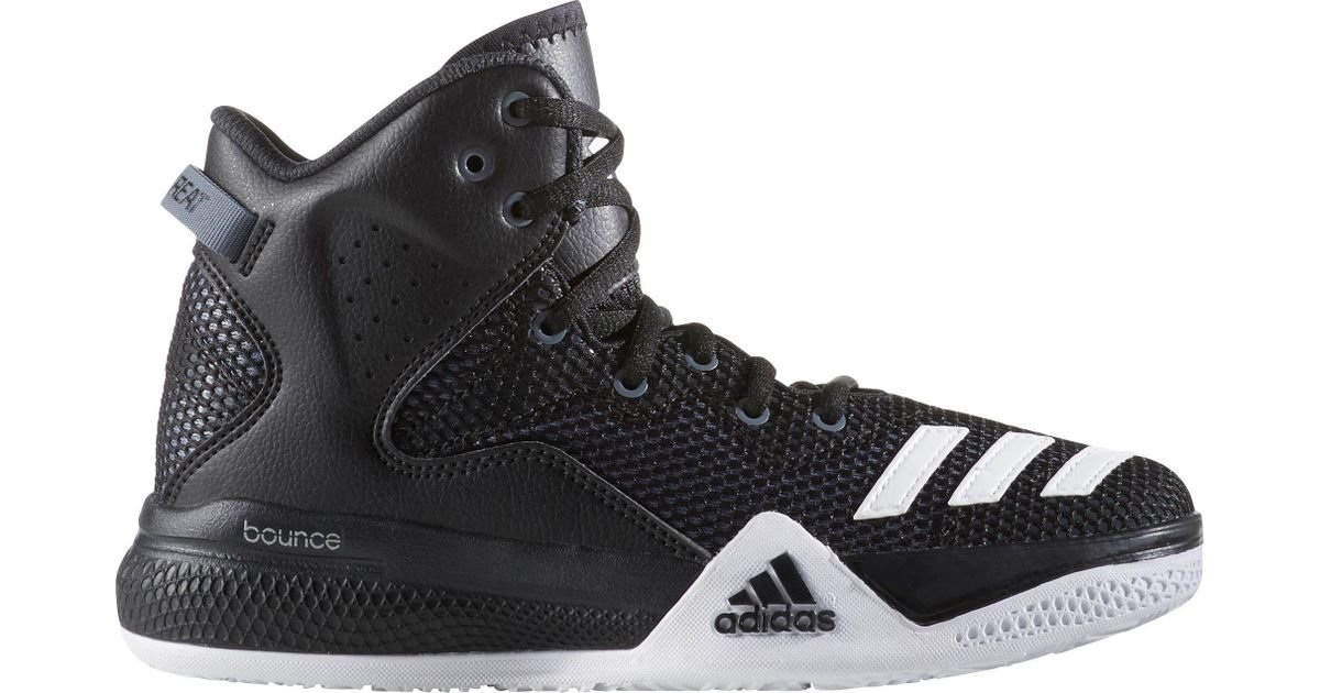 brand new fa886 2e86e adidas Dual Threat Basketball Shoes in Black for Men - Lyst