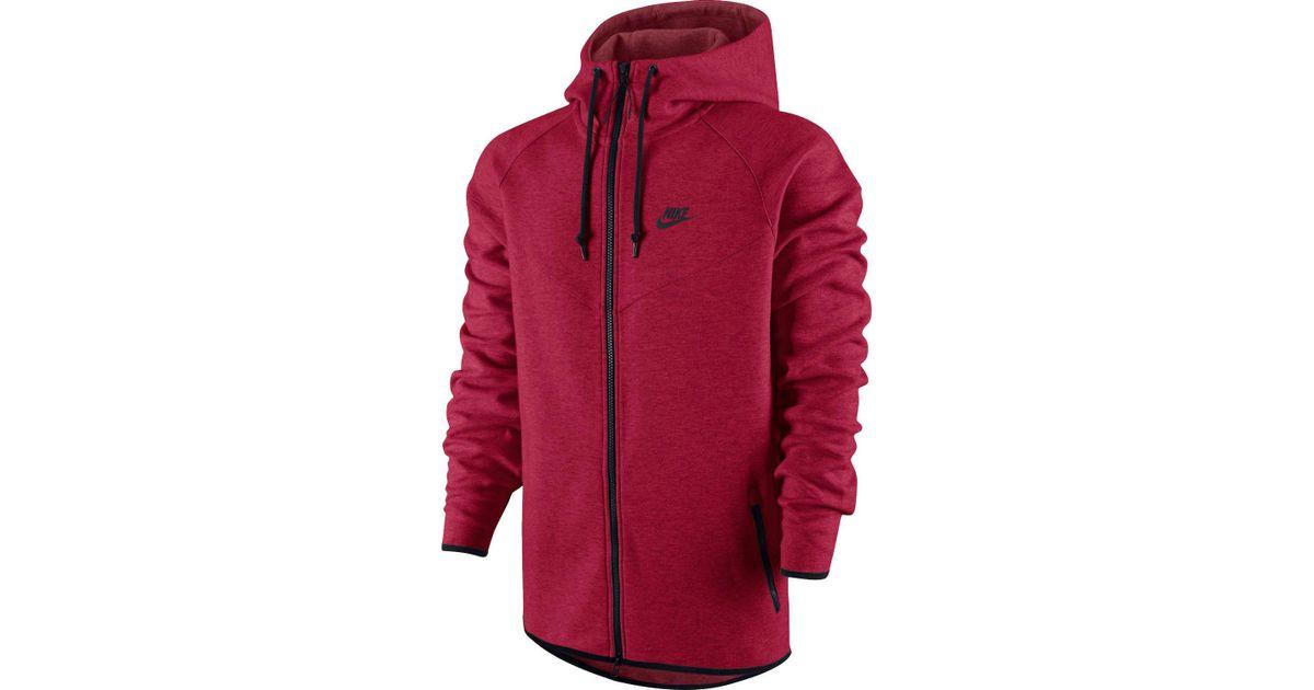 86ec571017 Lyst - Nike Tech Fleece Windrunner Full Zip Running Jacket in Red for Men