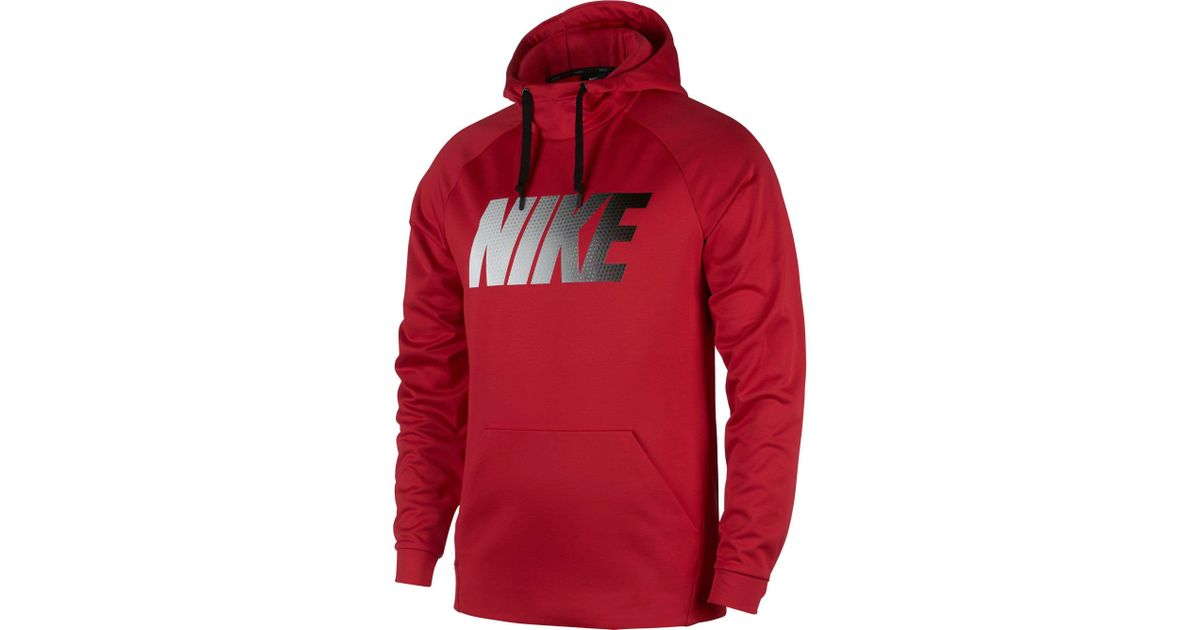 774b8aedc Nike Therma Graphic Hoodie in Red for Men - Lyst