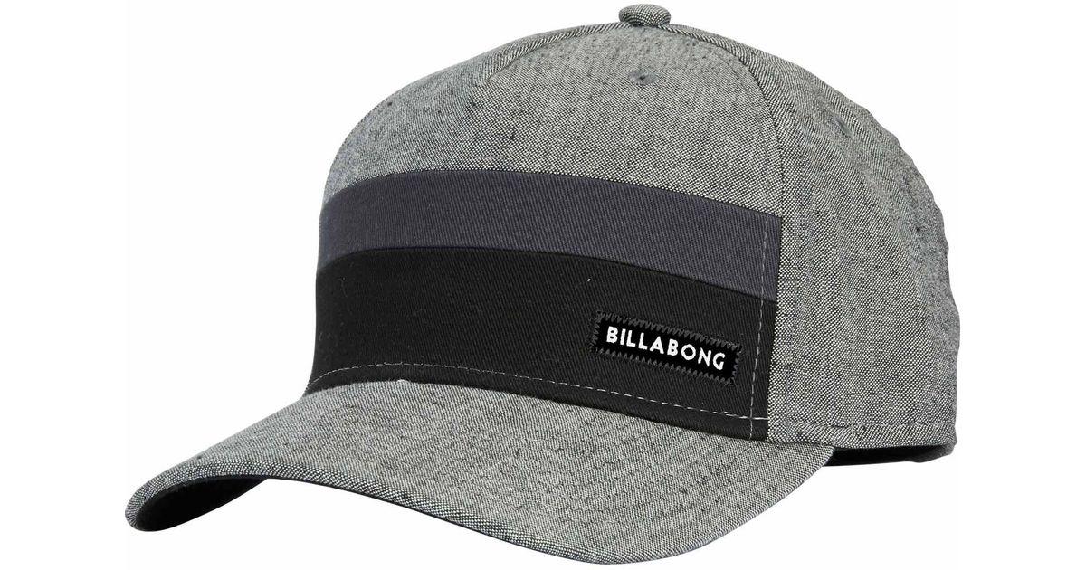 Lyst - Billabong Tribong Stretch Hat in Black for Men 3a378f3e4227