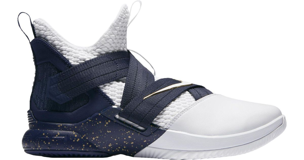 a478638a5fd Lyst - Nike Zoom Lebron Soldier Xii Basketball Shoes in Blue for Men