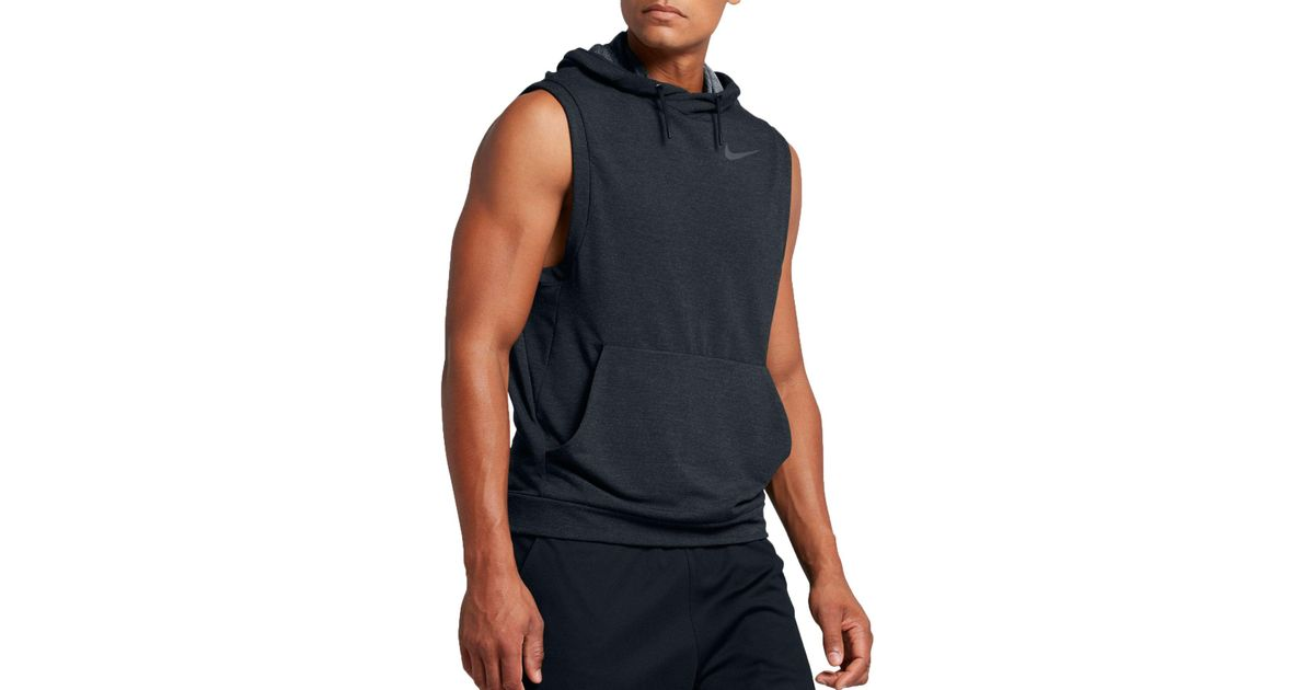 3543c803d6d1a Lyst - Nike Dry Sleeveless Hoodie in Black for Men