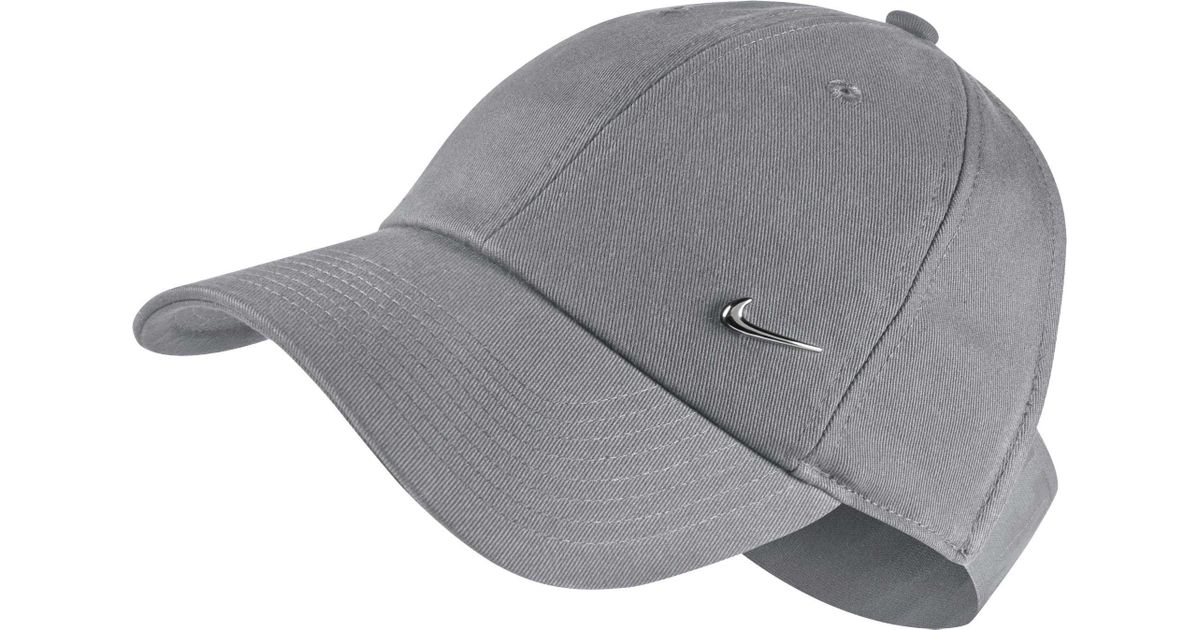33af2f53515 ... discount code for lyst nike sportswear open back visor hat in gray  11c3f f23bd