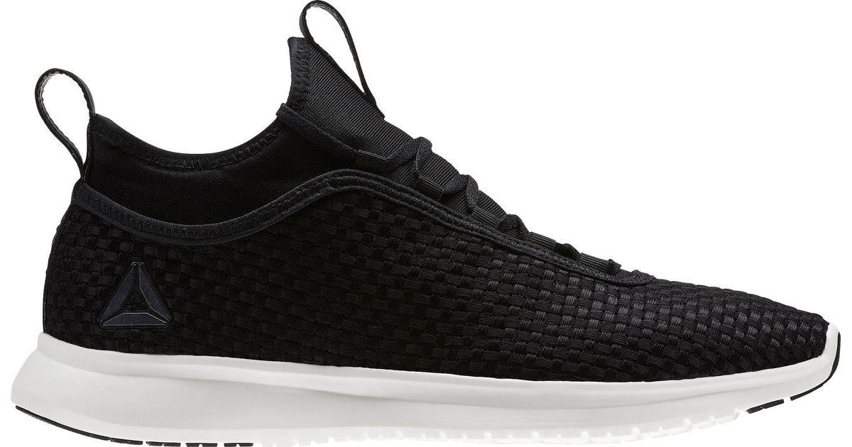 Lyst - Reebok Plus Runner Woven Running Shoes in Black for Men 5272a55dfa22