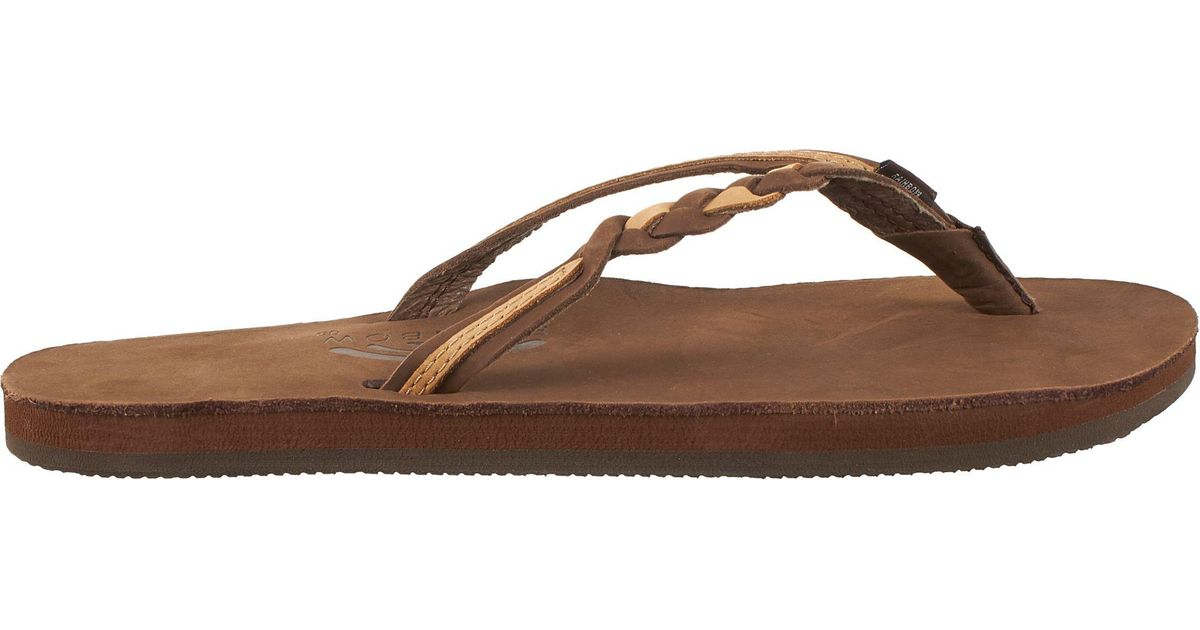 1860e1ce8d85 Lyst - Rainbow Sandals Leather 301 Flirty Braid Twist Flip Flops in Brown