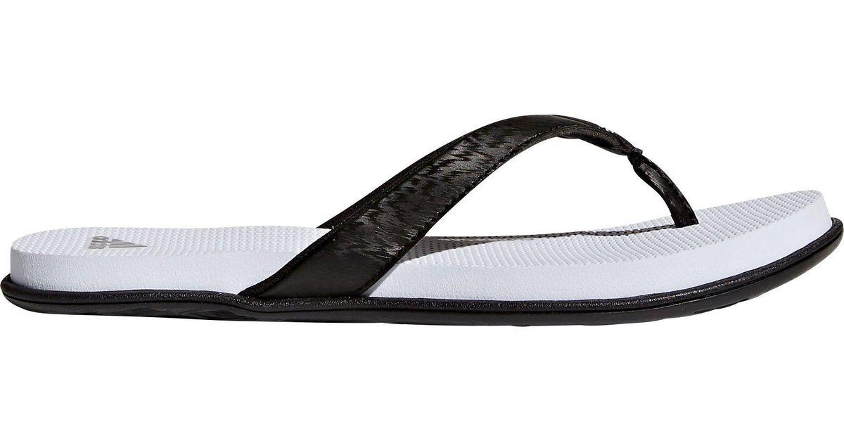 b0a7fb283a6f2 Lyst - adidas Cloudfoam One Thong Sandals in Black