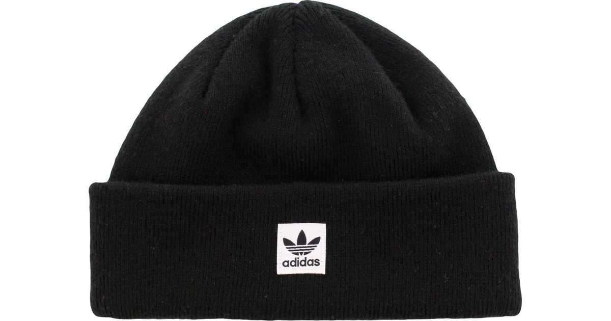 Lyst - adidas Originals Starboard Knit Beanie in Black for Men 8bb2e6885d2
