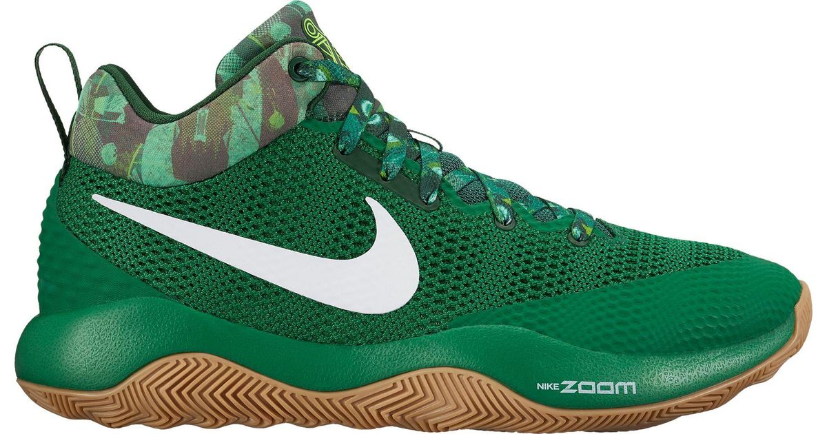 37f7a3a20e19 Shoes Green Lyst Basketball Zoom Rev For Men 2017 In Nike rXOX1qgU