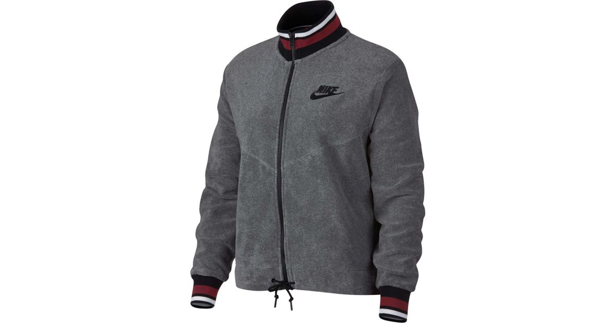 604d2de3ba482 Lyst - Nike Archive French Terry Full Zip Jacket in Gray