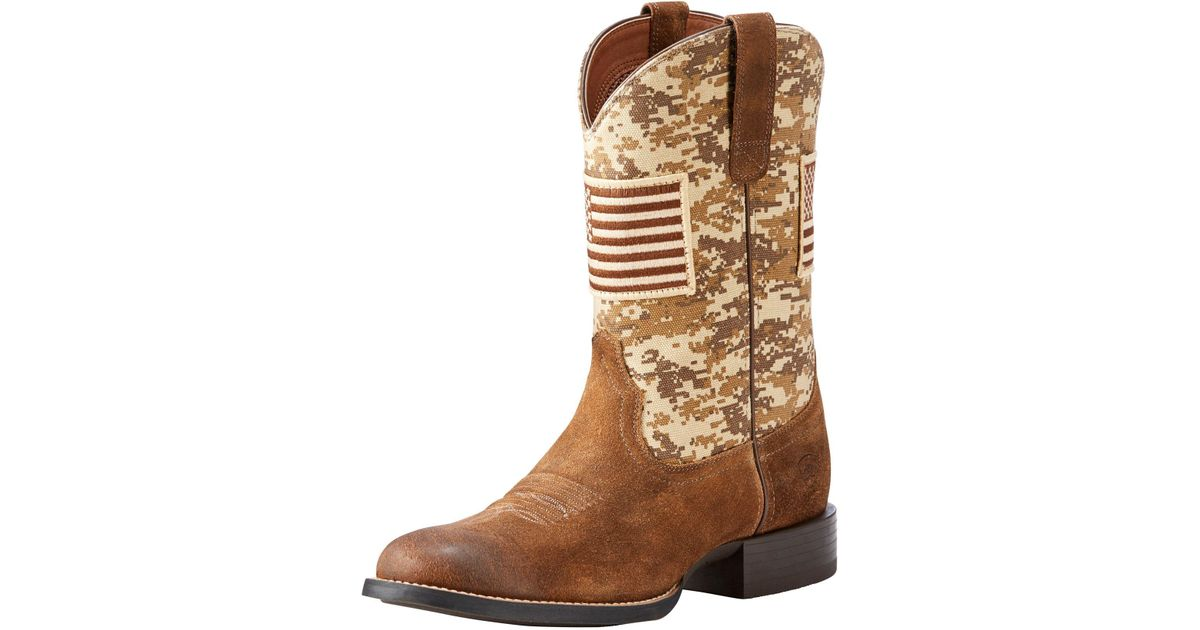 2a57fb38c23 Ariat - Brown Sport Patriot Western Boots for Men - Lyst