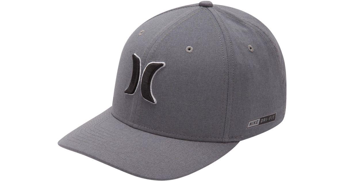 timeless design 34c53 4e055 Hurley Dri-fit Heather Flexfit Hat in Gray for Men - Lyst