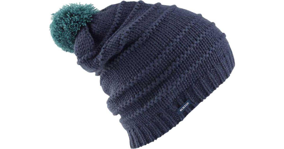 5554bdccbb4 Lyst - Burton Candy Stripe Beanie in Blue for Men
