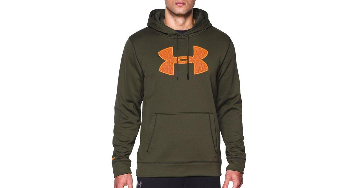 2323f39d0 Under Armour Storm Armour Fleece Big Logo Hoodie in Green for Men - Lyst
