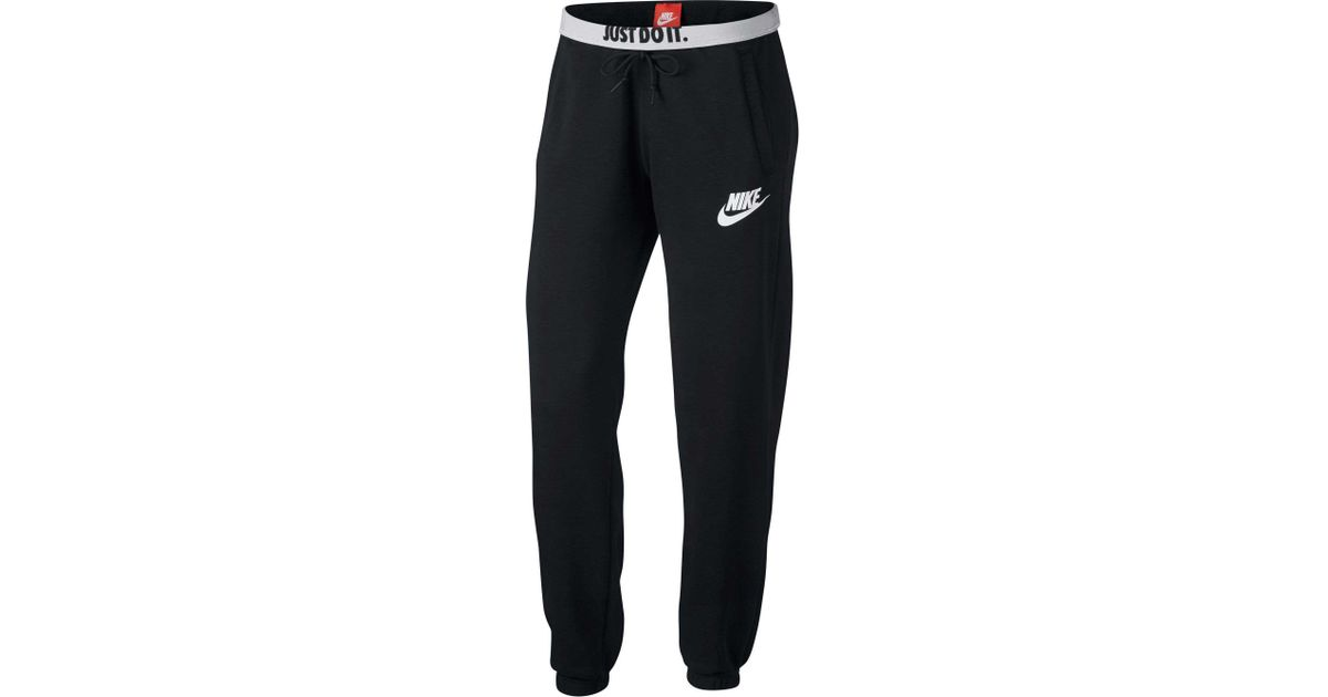 Super discount free delivery attractive price Nike Fleece Sportswear Loose Rally Sweatpants in Black - Lyst