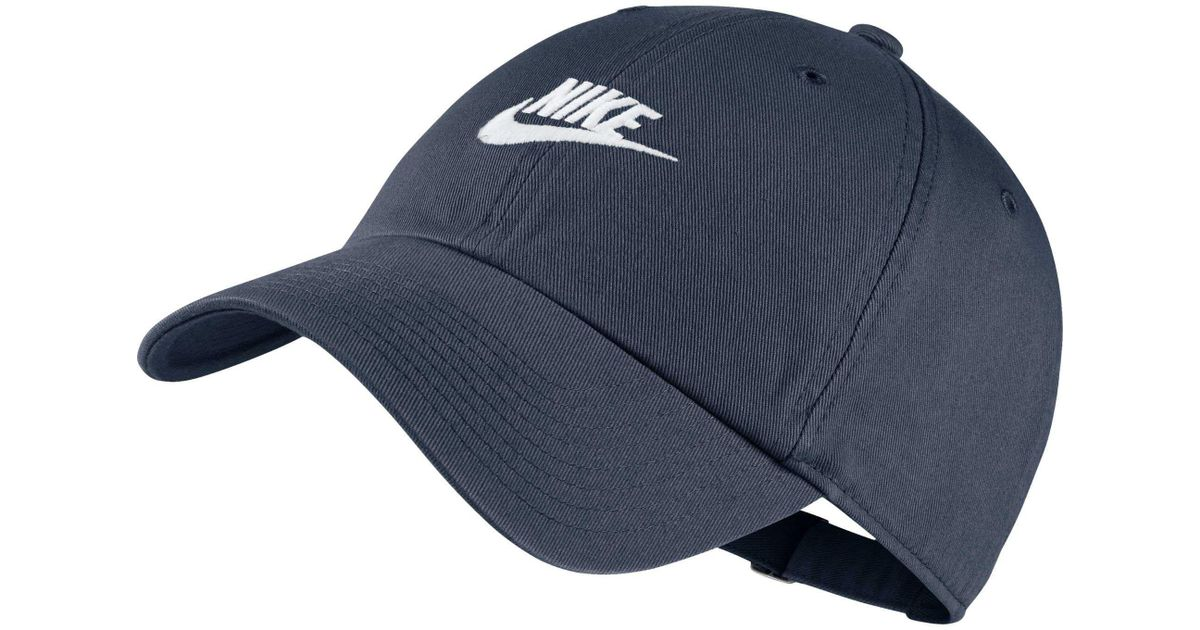 newest 085bf 9bd1a Lyst - Nike Sportswear H86 Cotton Twill Adjustable Hat in Blue for Men -  Save 18%
