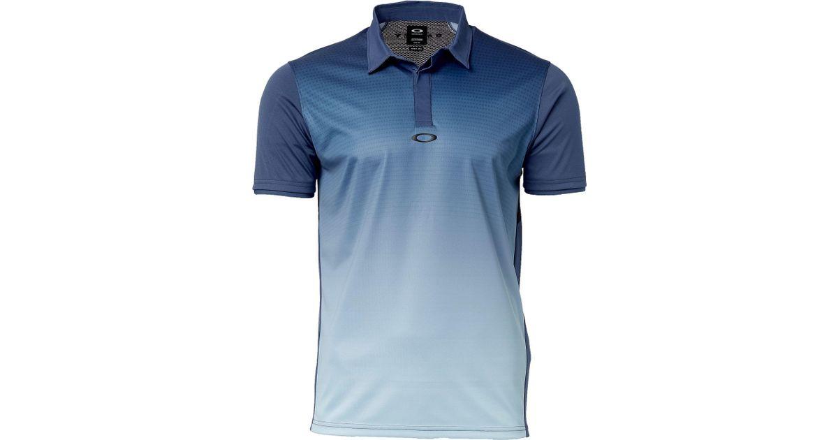 6dbb780d8 Lyst - Oakley Poliammide Golf Polo in Blue for Men