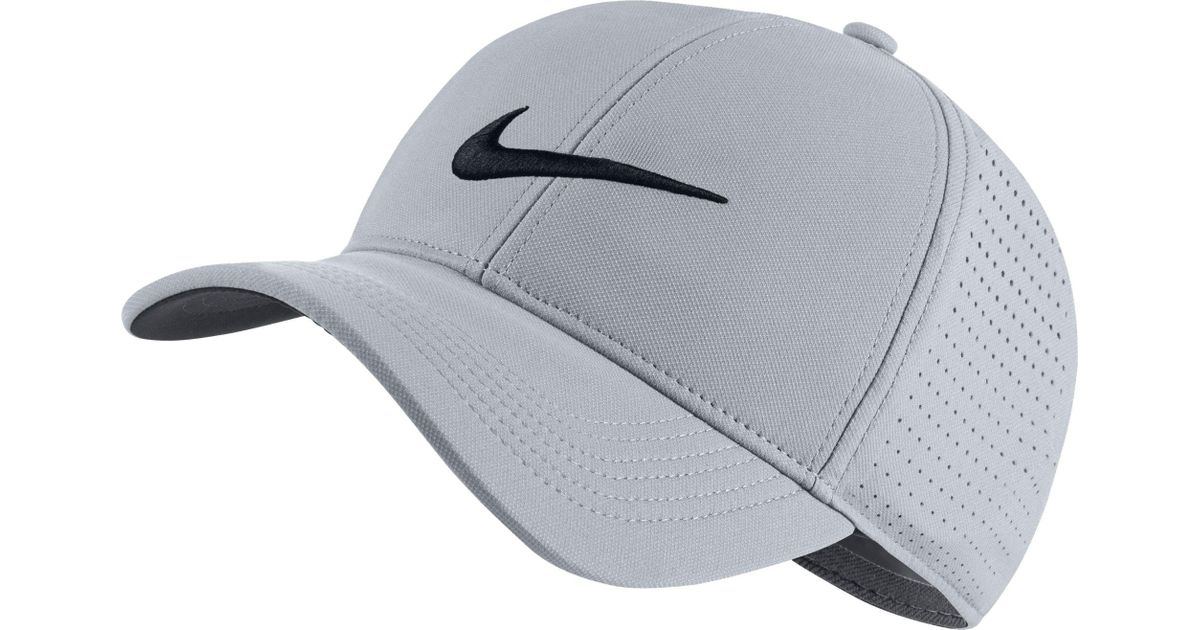 Lyst - Nike Aerobill Legacy91 Perforated Golf Hat in Gray for Men 6382996adbb1