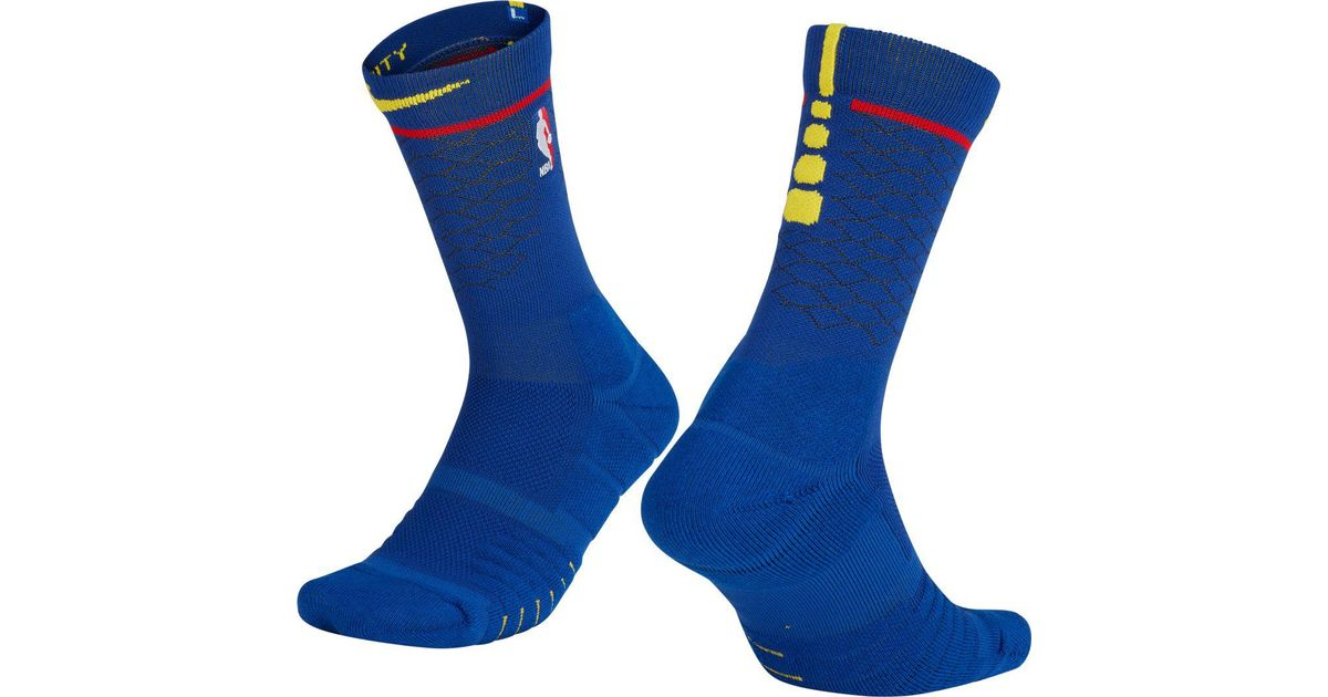 Lyst - Nike Golden State Warriors City Edition Elite Quick Nba Crew Socks  in Blue for Men 9a4d8cf59