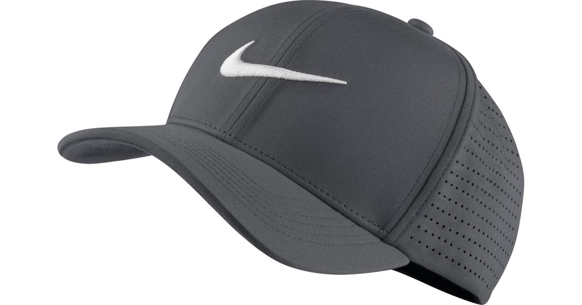c36ee10f Lyst - Nike Classic99 Perforated Golf Hat in Gray for Men
