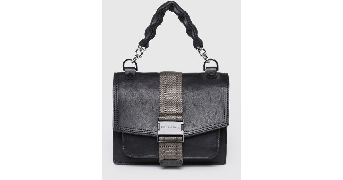 b21f011a13fe Lyst - DIESEL Cross Body Bag With Mismatched Hardware in Black