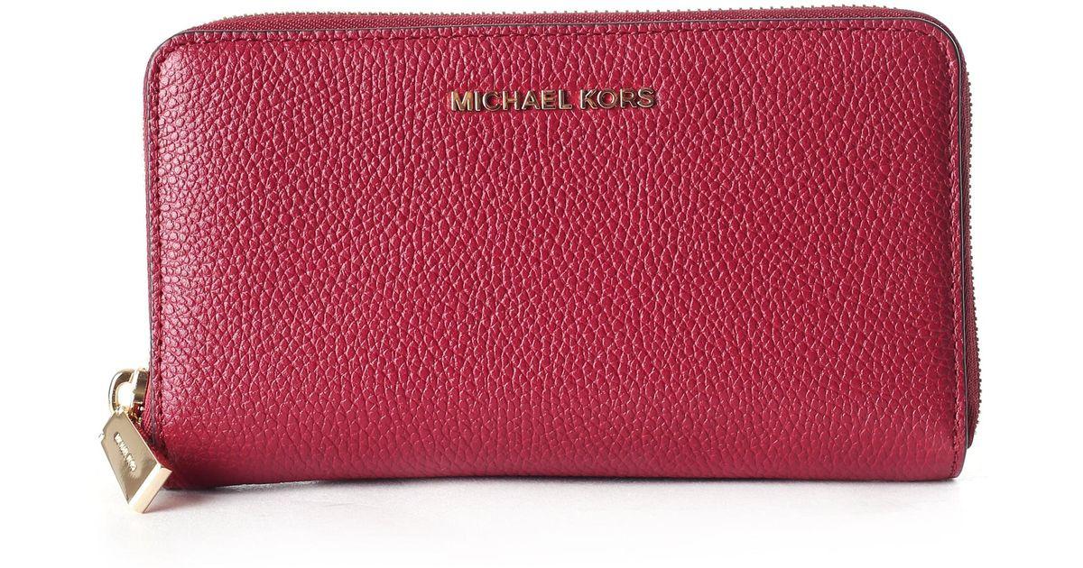 6276e483691c Michael Kors Mercer Large Smart Phone Wristlet Mulberry - Lyst