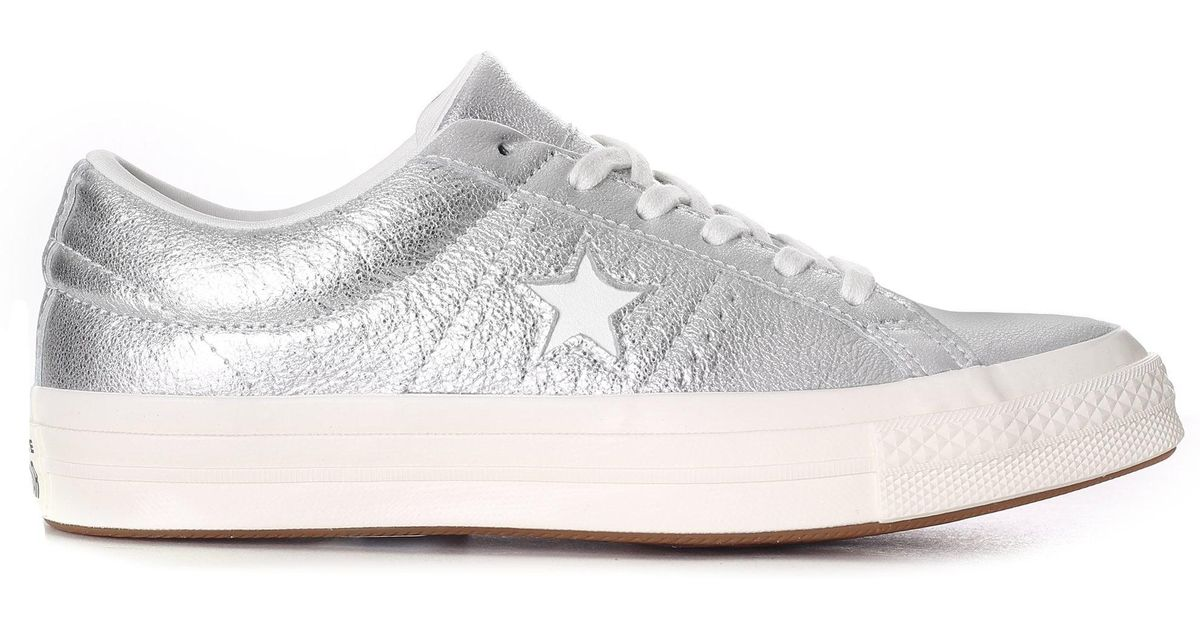 330a5bca8a33 Converse One Star Heavy Metallic Leather Ox in Metallic - Save 43% - Lyst
