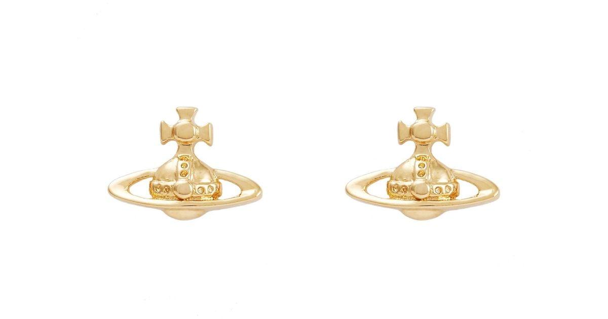 e52ea815a Vivienne Westwood Gold Lorelei Stud Earrings in Metallic - Lyst