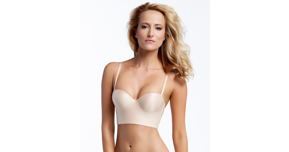 66f4a328368 Lyst - Felina Essentials Longline Strapless Bustier in Natural