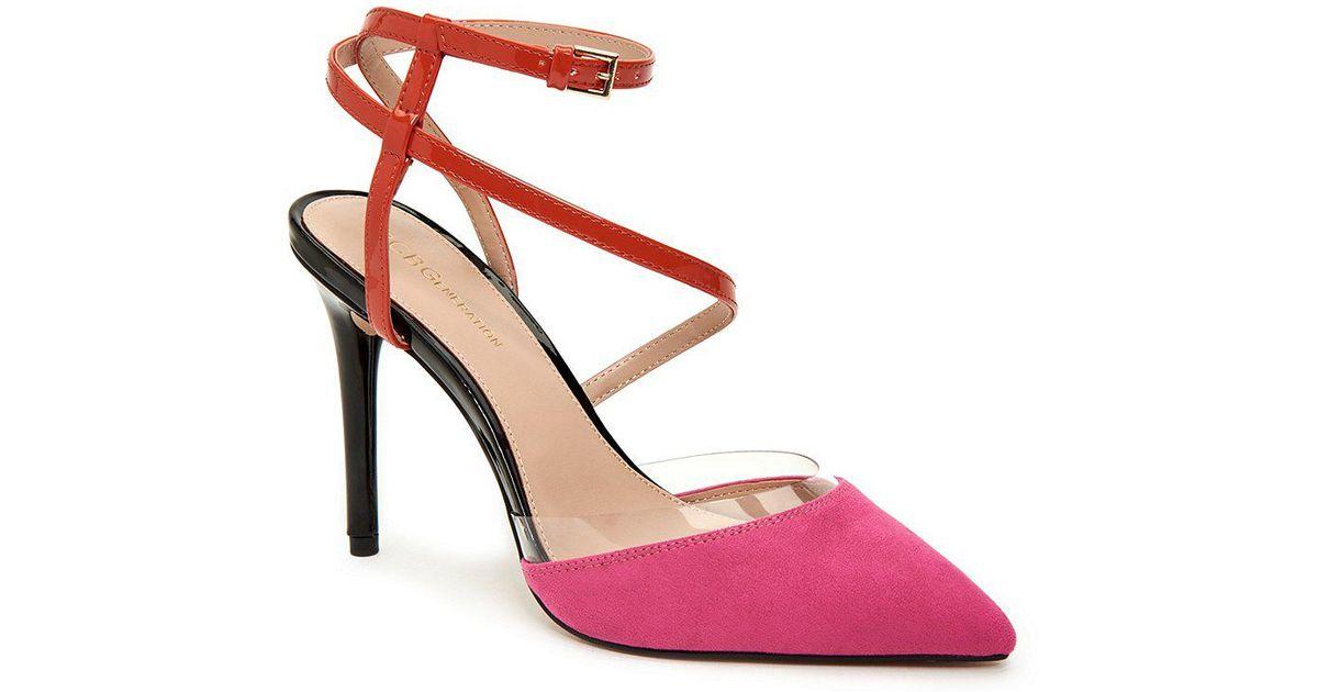 BCBGeneration Harlow Wrap-Around Ankle Strap Heeled Sandal WfPBZNp