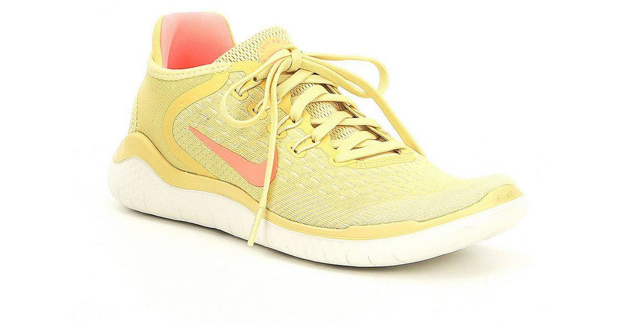 a4fd3b39bc01 Lyst - Nike Women s Free Rn 2018 Summer Running Shoes in Yellow
