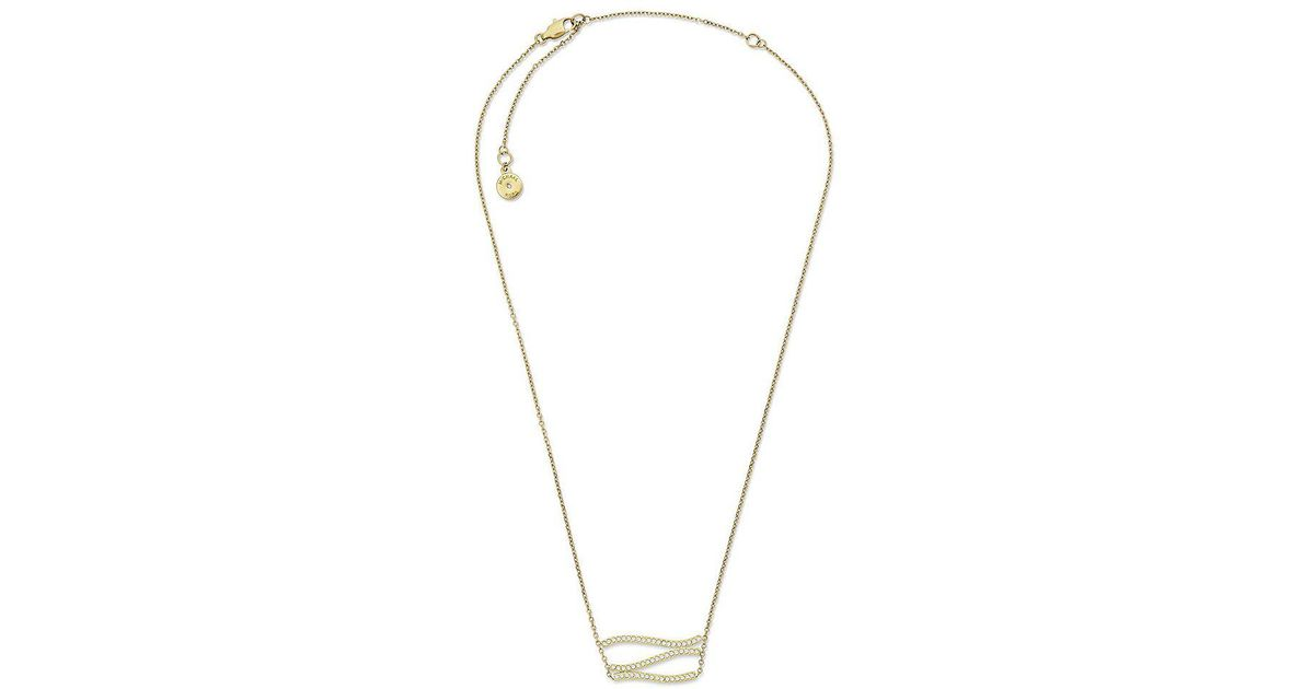 7676f62e373845 Lyst - Michael Kors Wonderlust Pavé Pendant Necklace in Metallic