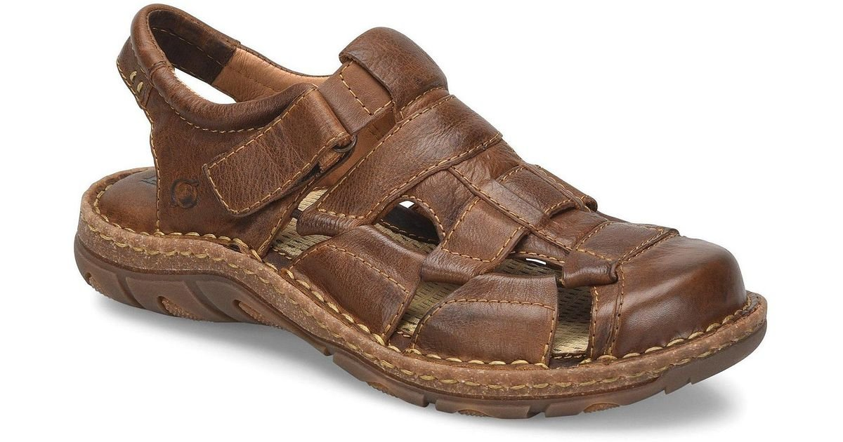 8a1c102204f7 Lyst - Born Men s Cabot Iii Leather Fisherman Sandal in Brown for Men -  Save 1%