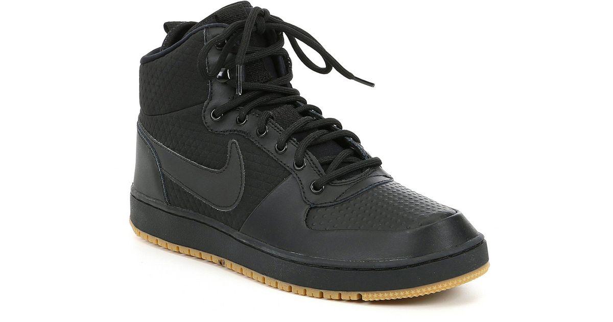 more photos 6e3e4 4151c Lyst - Nike Mens Ebernon Mid Winter Lifestyle Sneaker in Bla