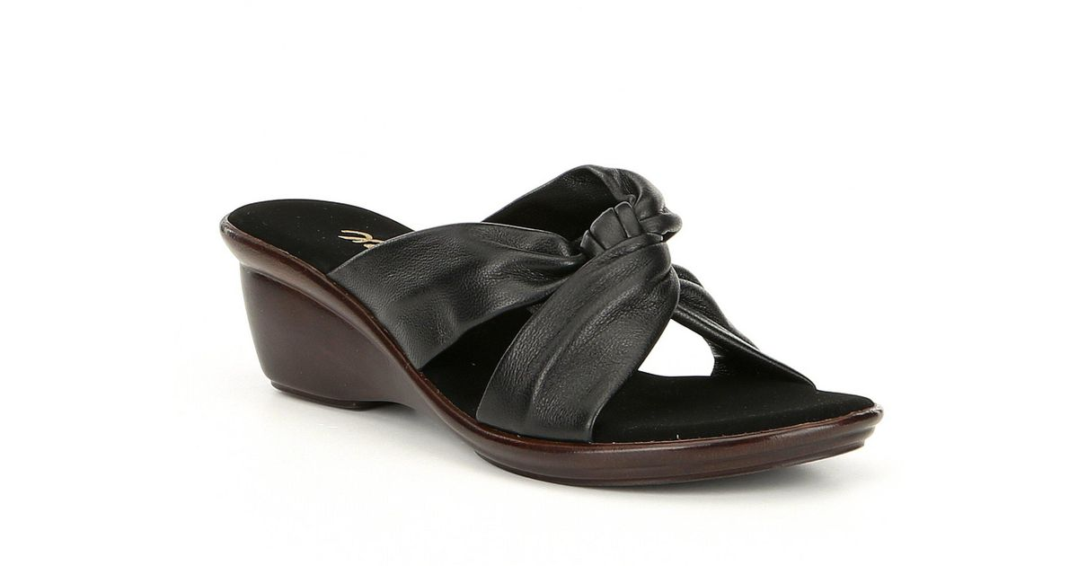 Lyst Onex Brie Knotted Wedges In Black